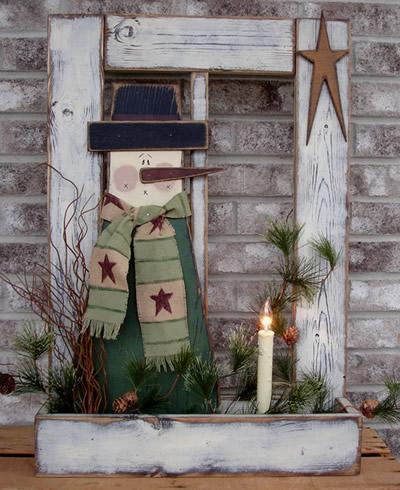 Snowman Window Box