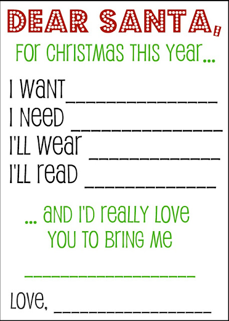 A Fun way to show kids not to be over indulgent during Christmas, one thing they