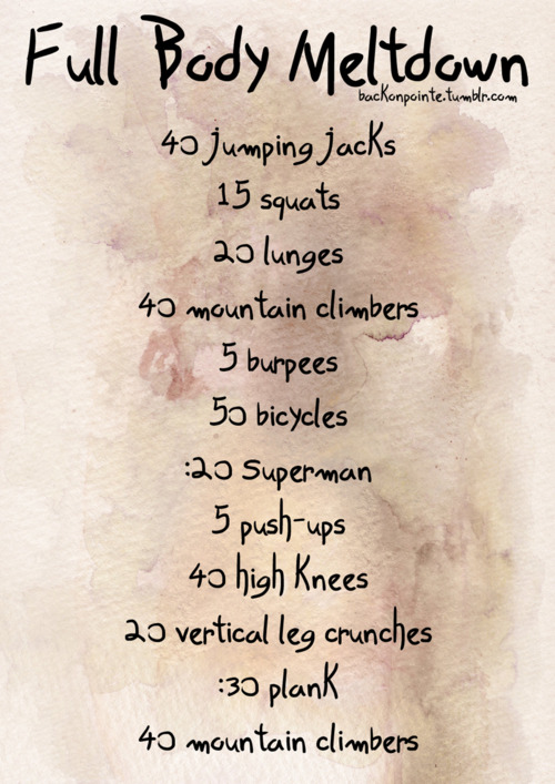 Another quick workout to get your heart pumping. To make it more intense, add in