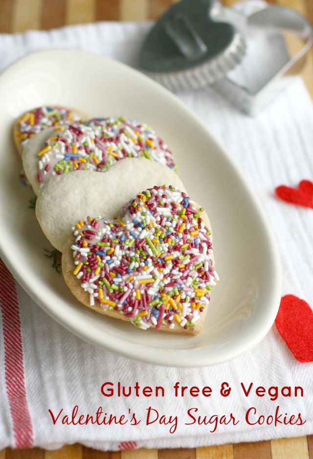 Allergy friendly Valentines Day sugar cookies