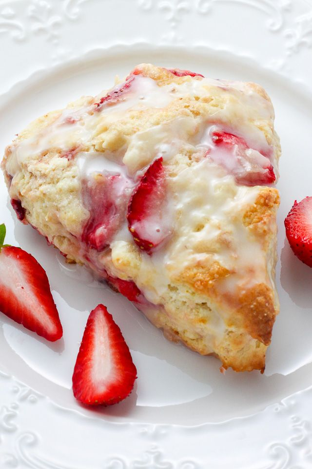 Strawberries and Cream Scones - tender, buttery, and bursting with strawberries in every bite! So much bet