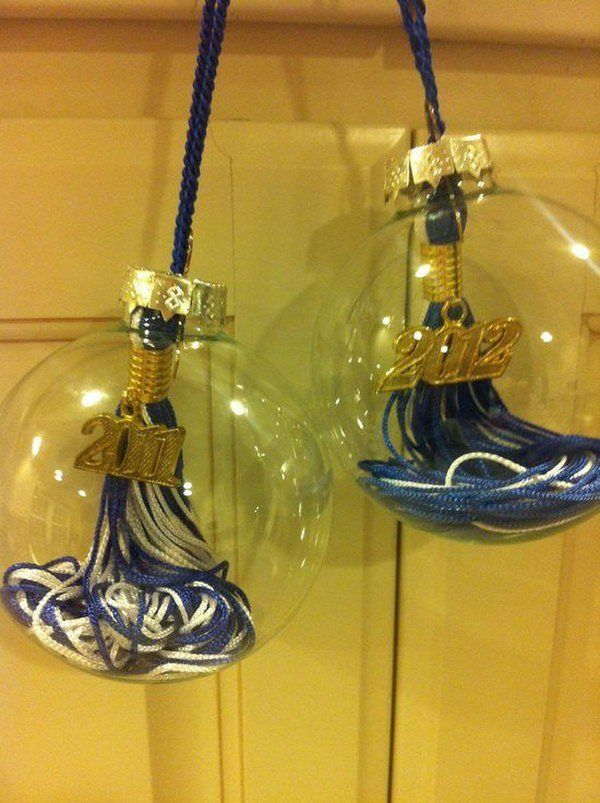 Graduation Tassel Ornament. Create such a special graduation keepsake by pulling the top off and place