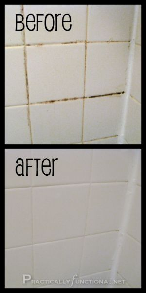 16 Easy Hacks for a Sparkling Bathroom --  mold, mildew, gunk, scum... all gone!