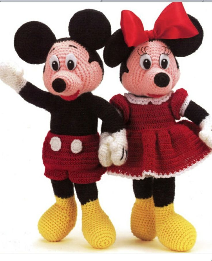 Disney Home, Mickey & Minnie Dolls, Crochet