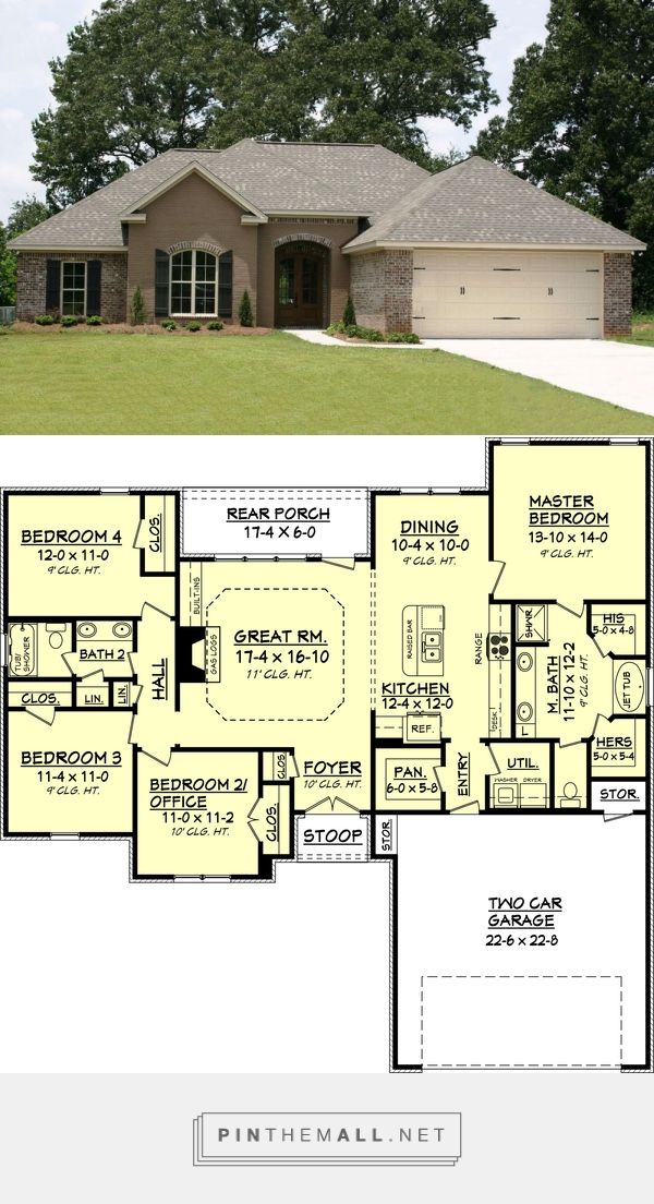 Traditional Style House Plan 1750 Sq Ft Plan 430 69