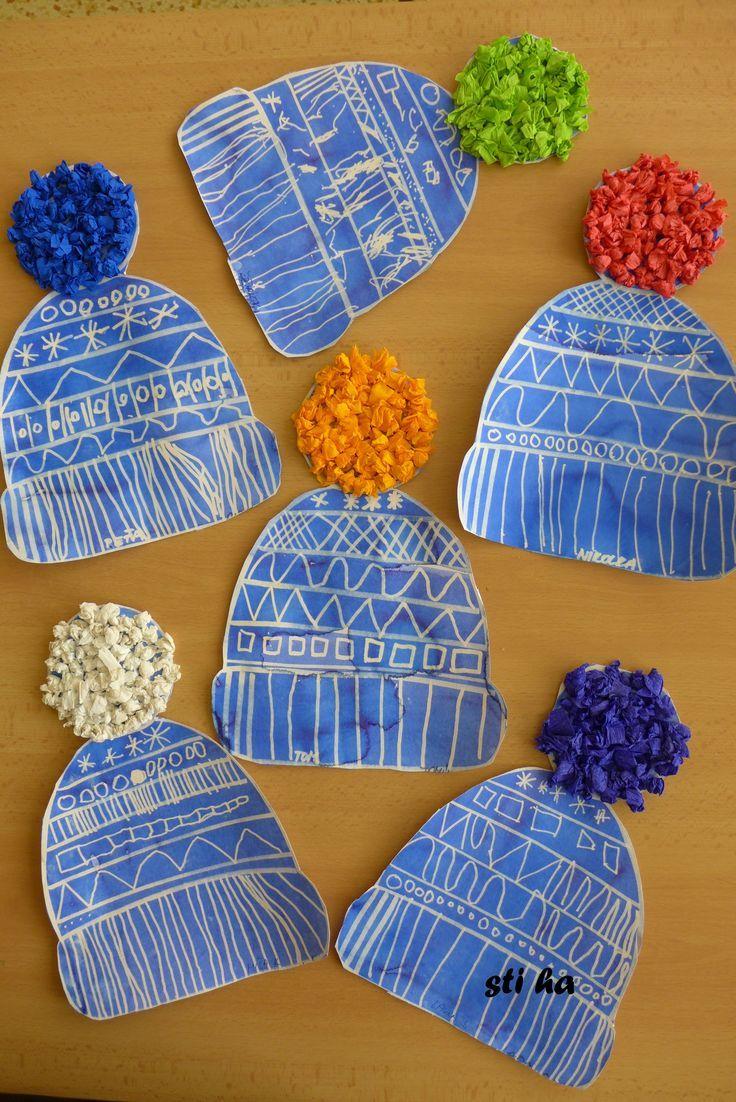 Winter hats craftivity.