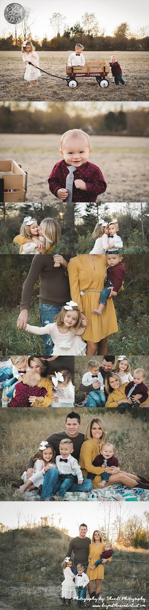 Fall family pictures, family of 5 poses, what to wear for family pictures, family