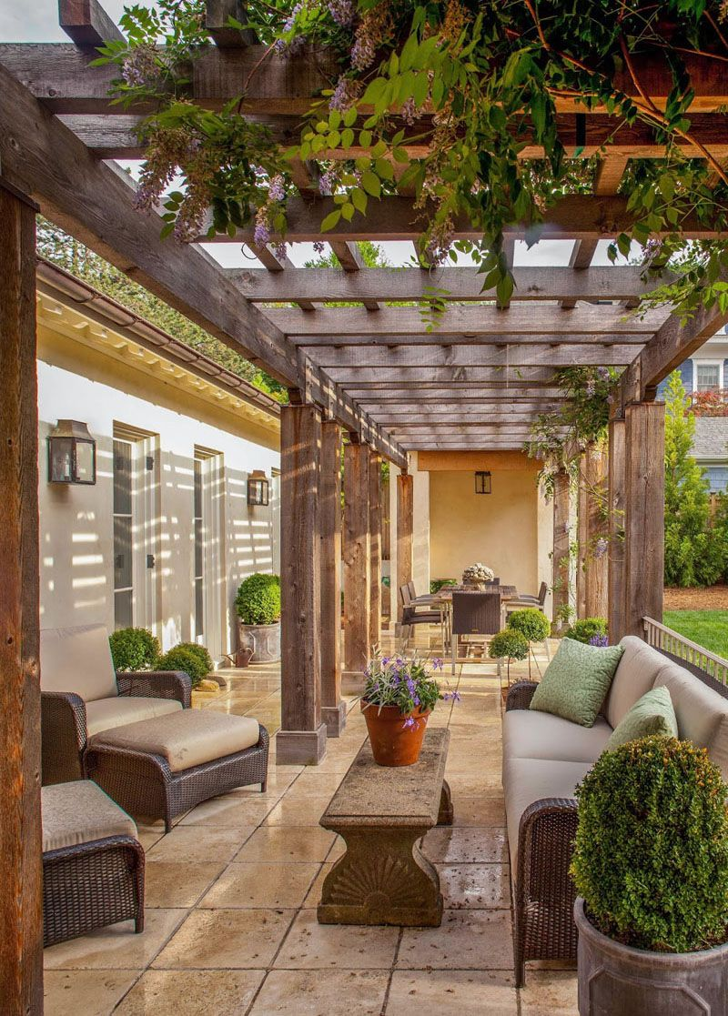 An outdoor patio is frequently viewed as an extension of the indoor living space.