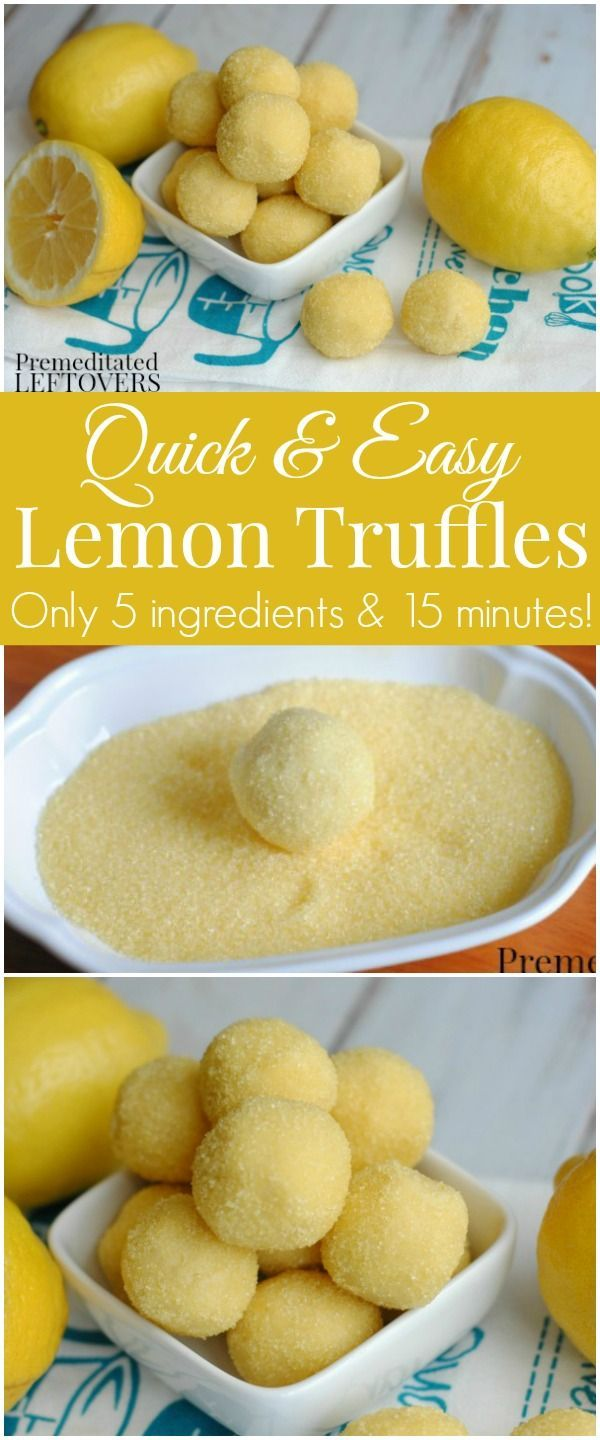 Looking for easy, no-bake desserts? Try this Easy Lemon Truffle Recipe- This is an