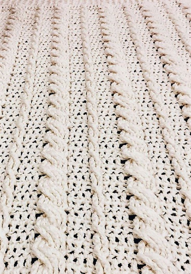 [Free Pattern] Fabulous Crochet Cabled Wedding Blanket