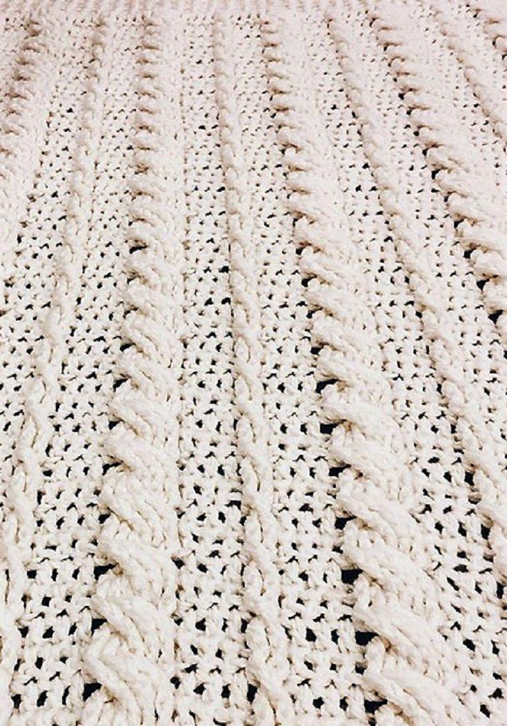 [Free Pattern] Fabulous Crochet Cabled Wedding Blanket
