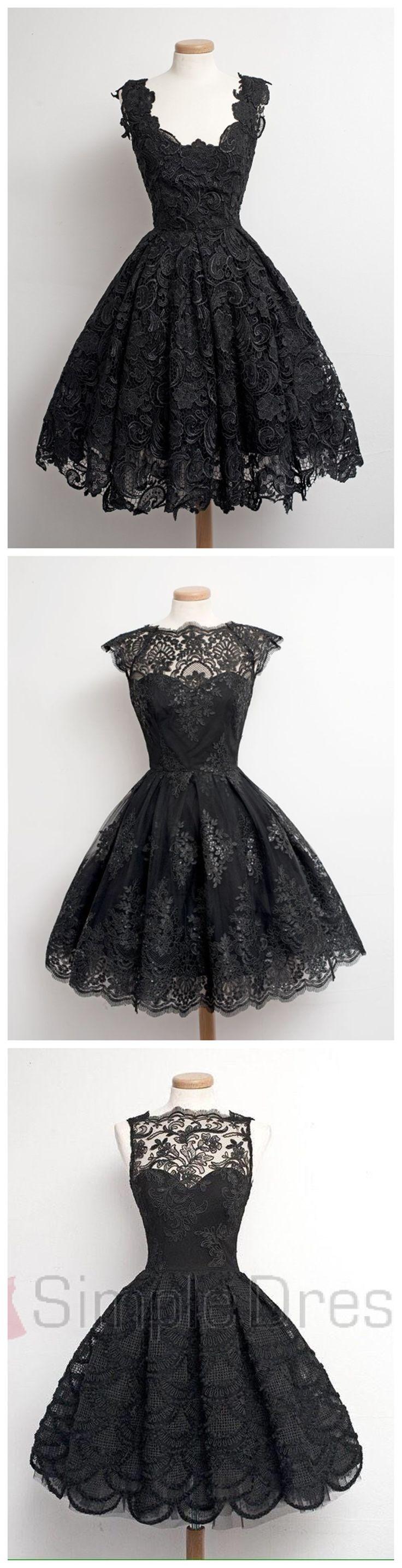 Vestidos negros con encaje