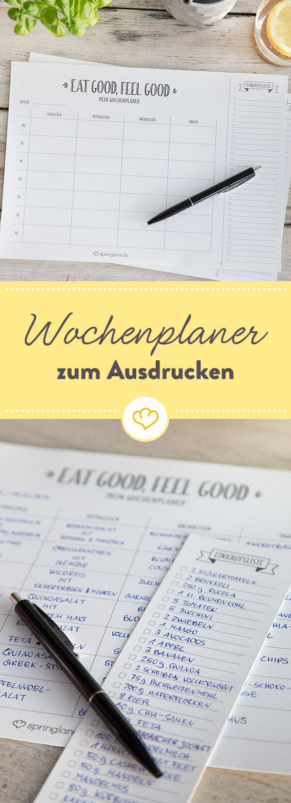 Eat Good – Feel Good – Meal Planner kostenlos zum Download