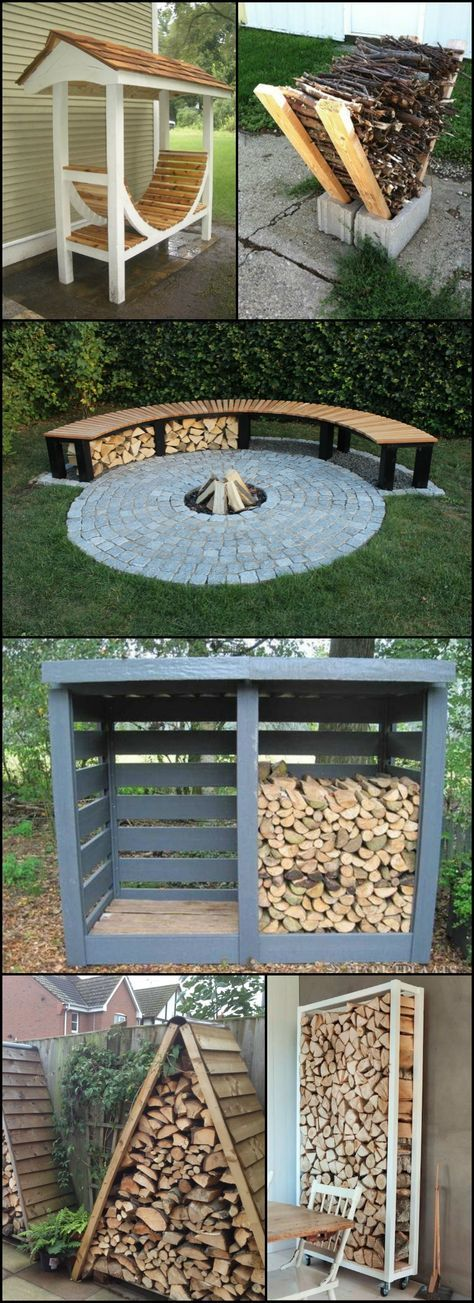 Firewood Storage Ideas  theownerbuilderne...  Do you have a wood burning fireplace or even a fire pit at home? If you use one to