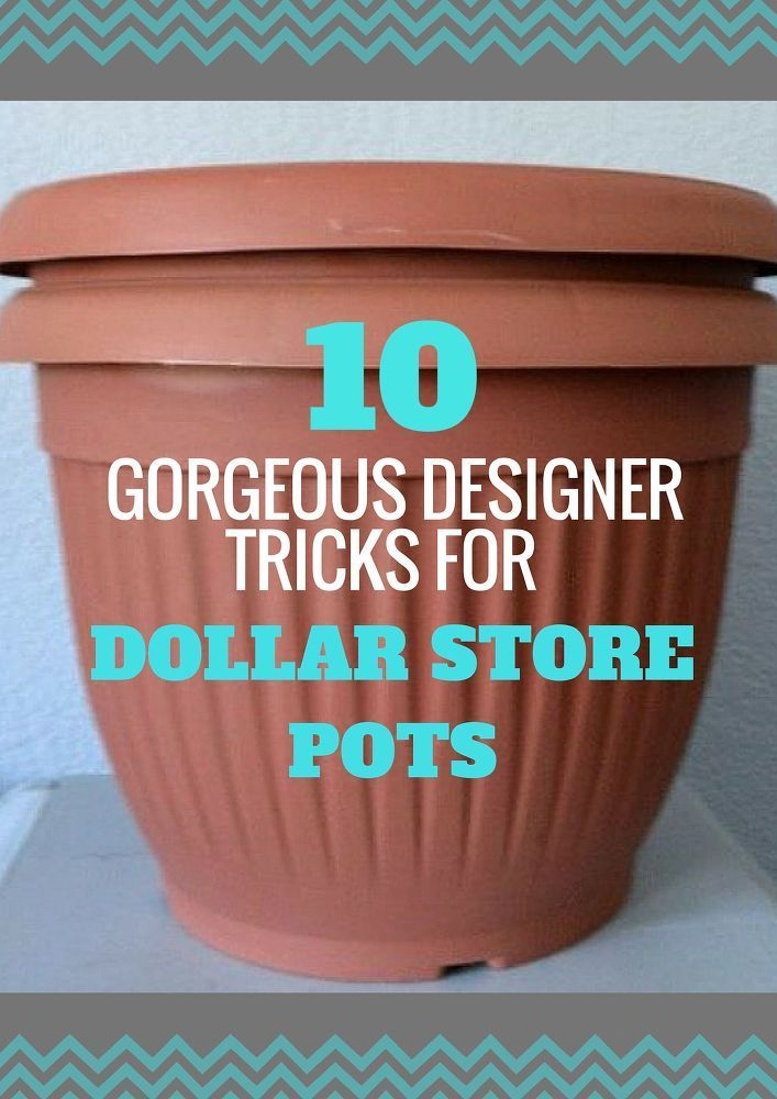 Antique your plastic pots -   How to upcycle Cheap Flower Pots