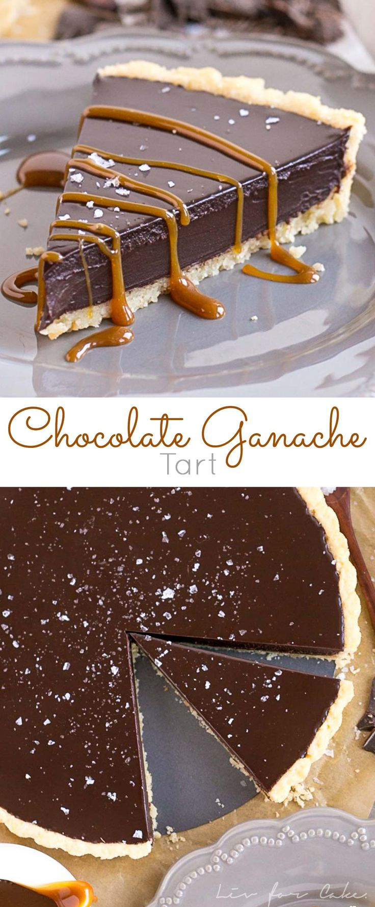 This simple and elegant Dark Chocolate Ganache Tart can be topped with anything you like, from a sprinkling of sea salt to dulce