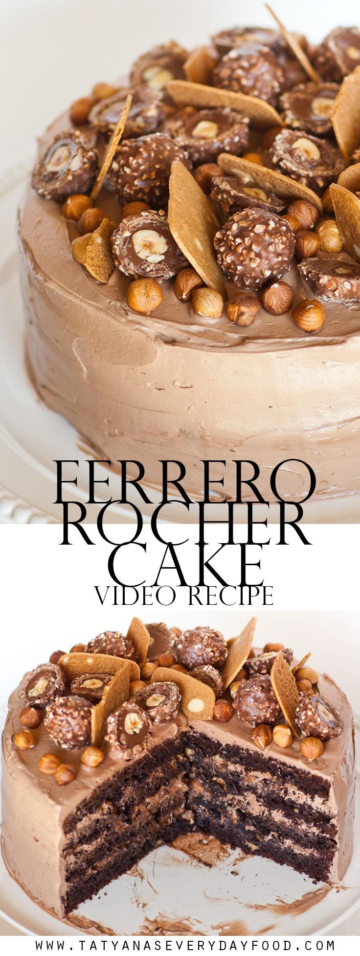 Ferrero Rocher Cake with video recipe {Tatyanas Everyday Food}