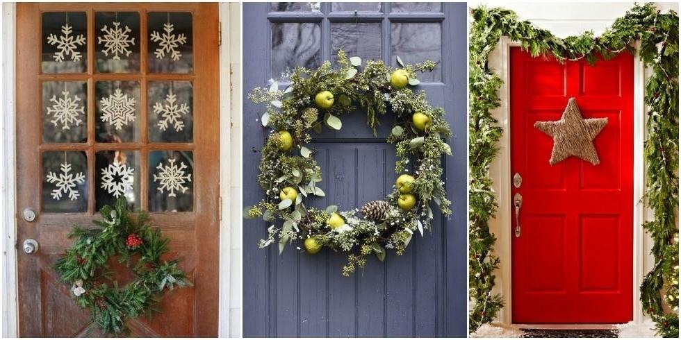 Door Decorations 24 Christmas Door Decorating Ideas How To Decorate