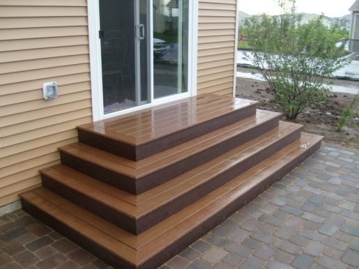 Trex Steps on Paver Patio