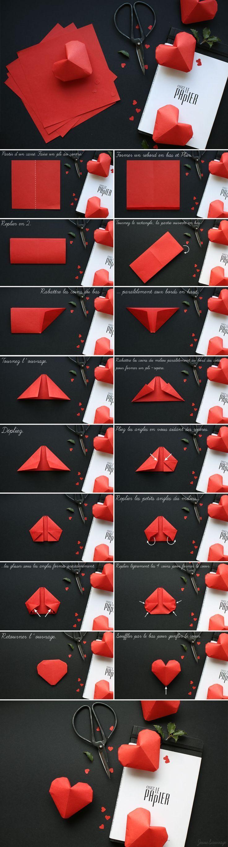 DIY Paper Hearts