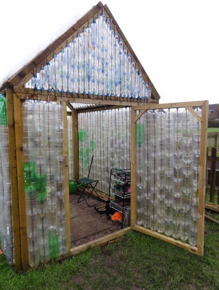 30 Repurposed Plastic Bottle Greenhouses You Can Build Yourself