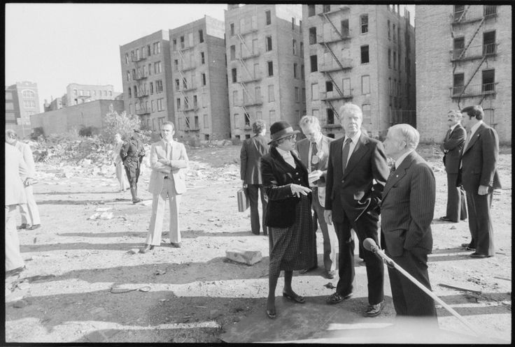 Jimmy Carter takes in the splendor of the South Bronx, 1977