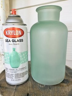 DIY cottage style sea foam sea glass bottles - The EASIEST way to get the sea glass look!!  Great for farmhouse style or cottage