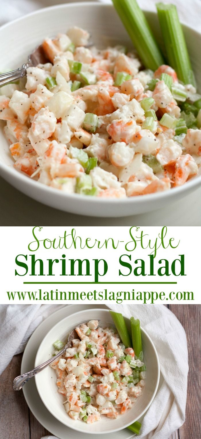 Simple and so delicious, this Southern Shrimp Salad recipe is one I grew up eating right out of the bowl…and it's tasty on a
