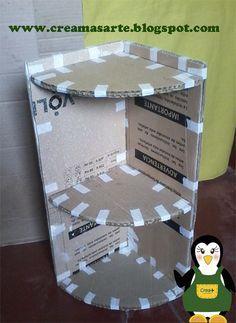 Últimamente estoy entusiasmada con el reciclaje de cartón, he estado haciendo varias cosas, ya los iré subiendo. Aquí les