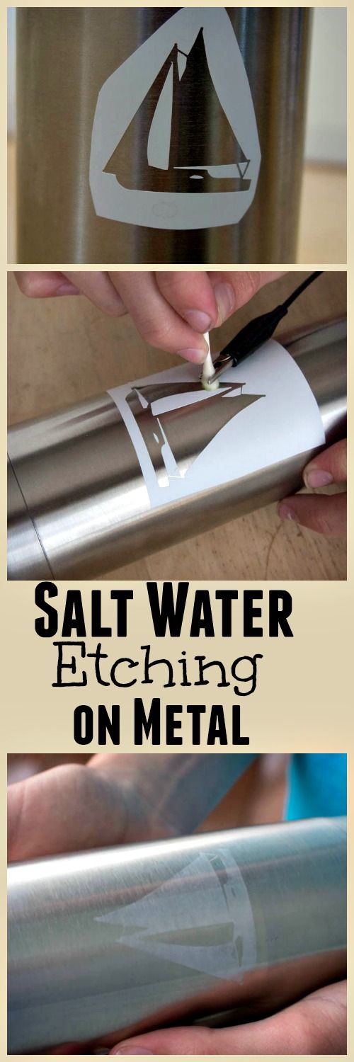 Personalize your water bottle with salt water etching