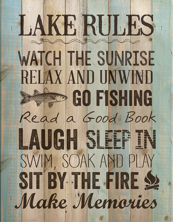 Wall sign perfect for your lake house and cabin decor for What are the rules for go fish