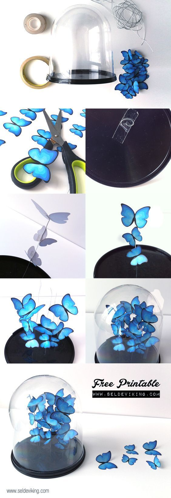 Cool Turquoise Room Decor Ideas - DIY Butterfly Decor - Fun Aqua Decorating Looks and Color for Teen Bedroom, Bathroom, Accent