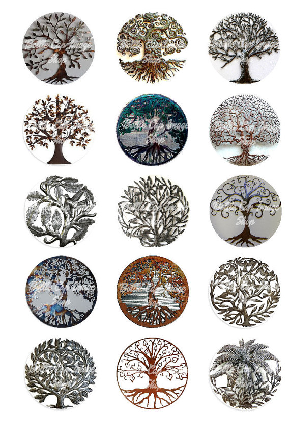 Tree Of Life Metal Collage Sheet 1 inch by Bottlecapimageshop, $1.75 #tree_tattoo_ideas