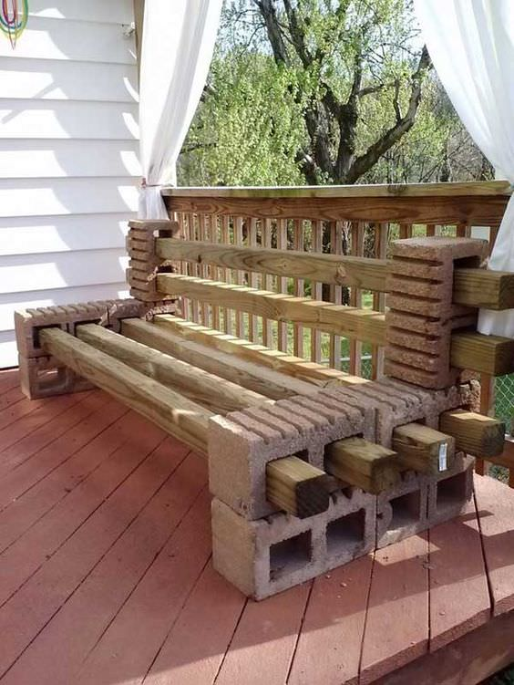10 Amazing Cinder Block Benches