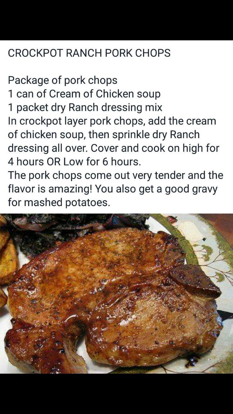 Ranch pork chops in the crock pot?!