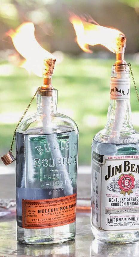 DIY Tiki Torch Bottles