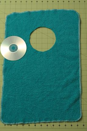Towel bib. Always loved these the best, no scratchy unreliable velcro or strings that can be untied.