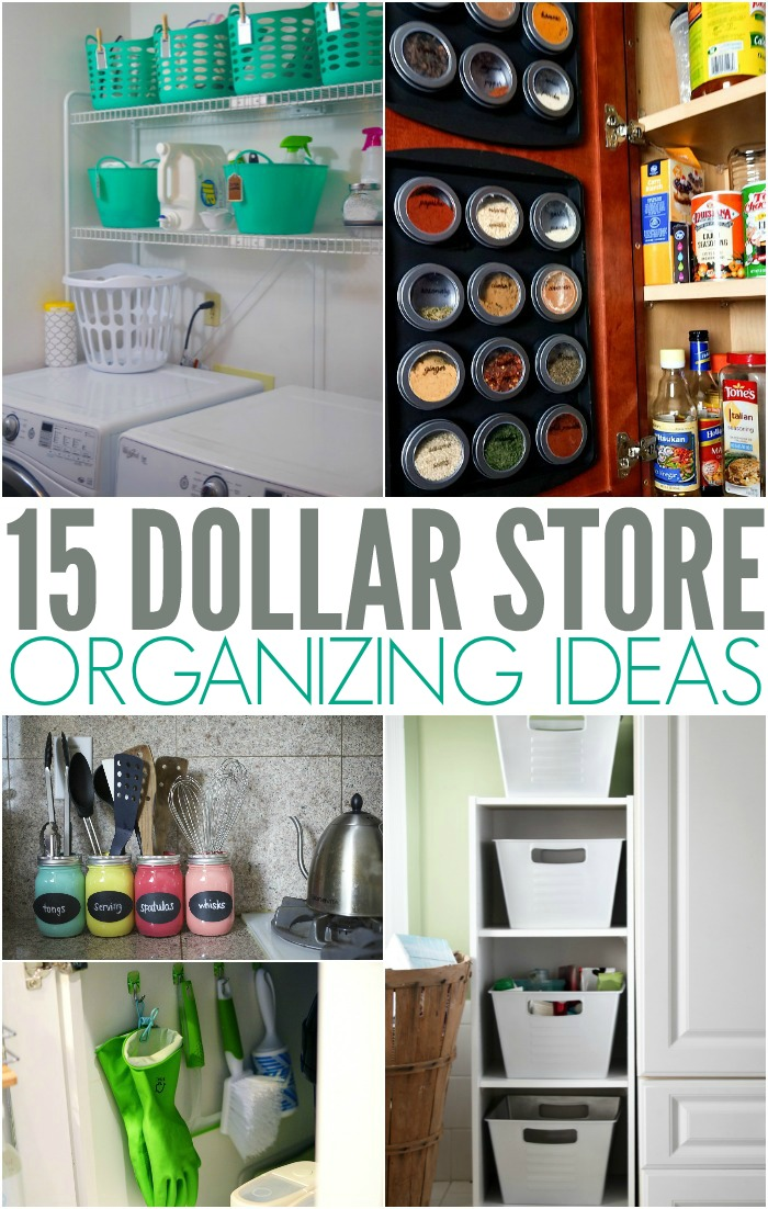 Simple Dollar Store Organizing Ideas and Hacks for any budget.      Declutter | Cleaning | organize | simplify | budget organizing