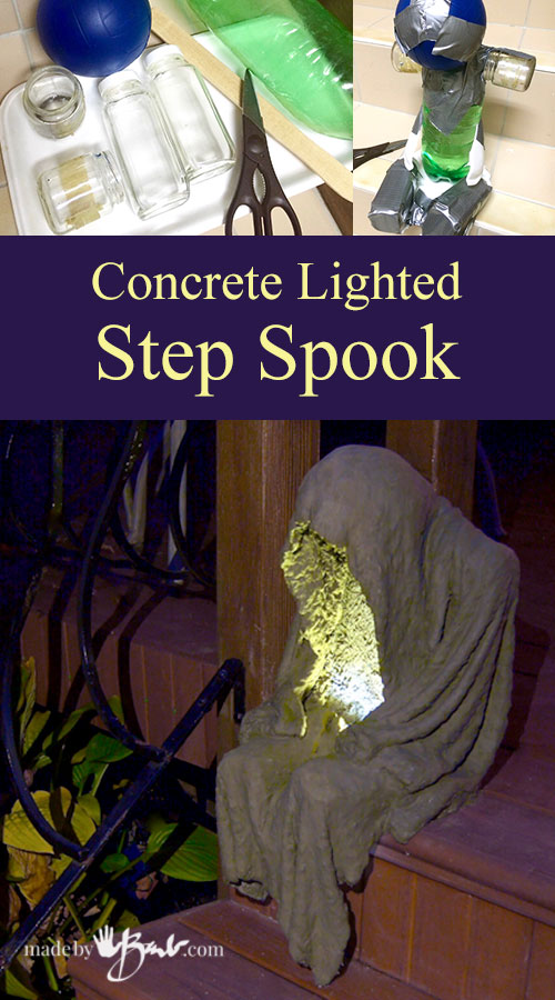 Concrete Lighted Step Spook—madebybarb Feature3
