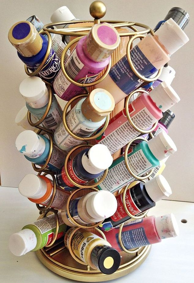 keurig cup carousel repurposed art supplies storage, craft rooms, crafts, how to, organizing, storage ideas