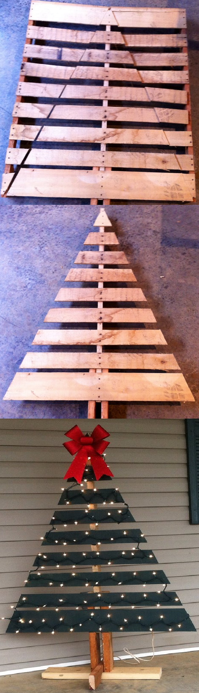 Cool DIY Recycled Pallet Christmas Trees -   DIY Christmas Tree Ideas