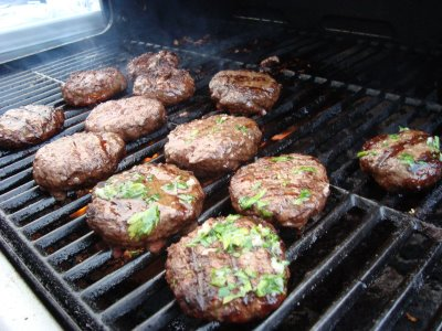 Garlic Butter Burgers recipe from Bobby Flay's Burger's Fries & Shakes