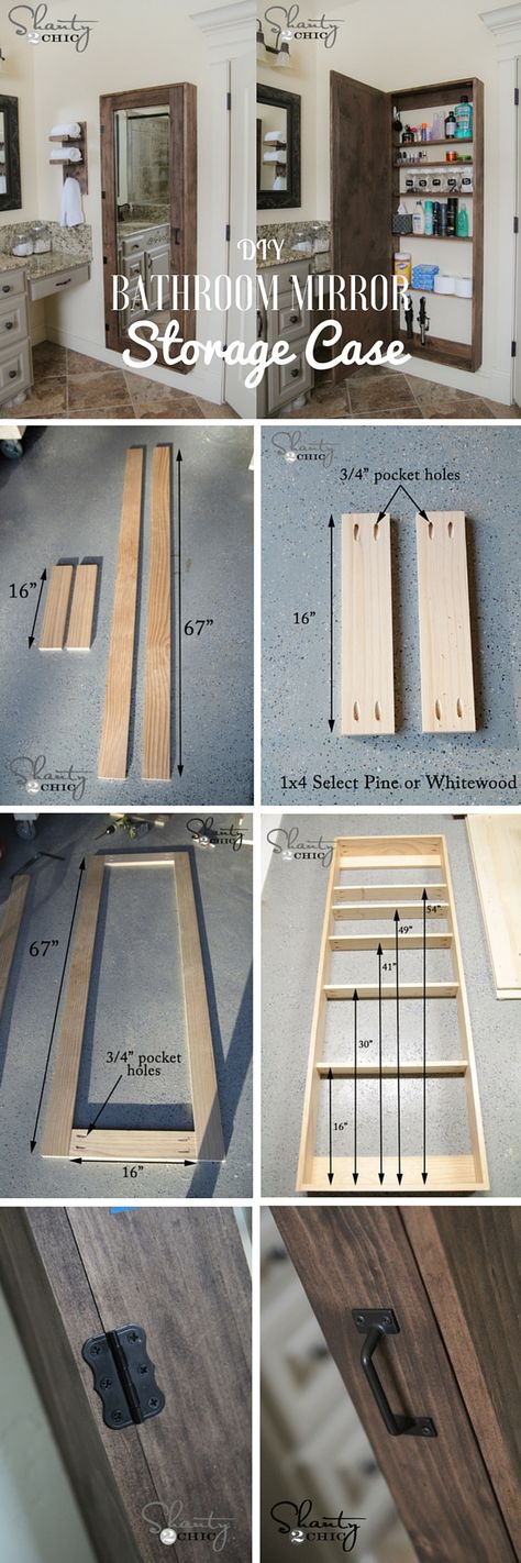 Check out the tutorial: DIY Bathroom Mirror Storage Case /istandarddesign/