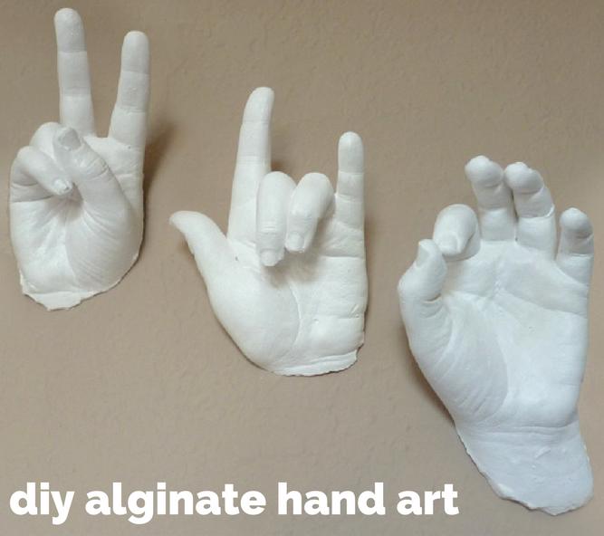 A real hands on craft! Alginate/plaster of paris sculptures.