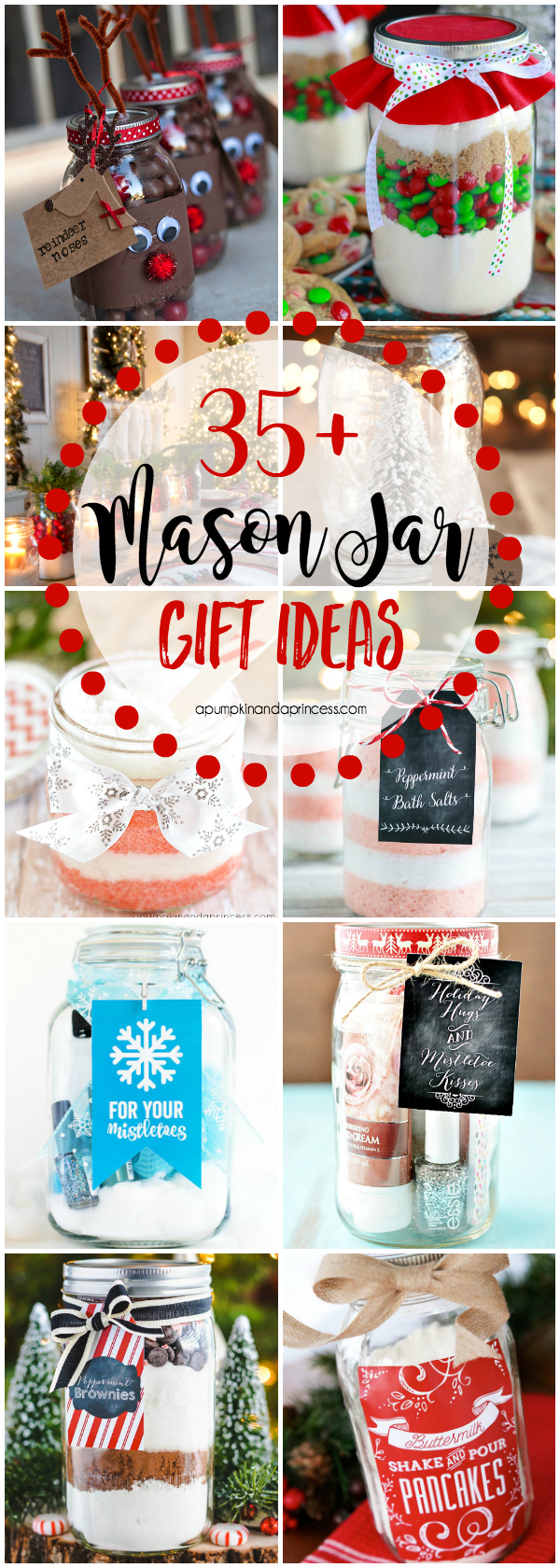 35+ Creative Mason Jar Gift Ideas. Visit your local Goodwill for Mason Jars and more DIY gifts!
