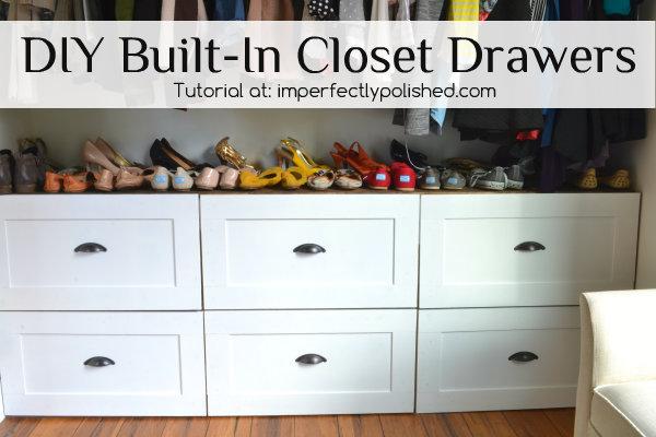 DIY Built-In Closet Drawers Tutorial