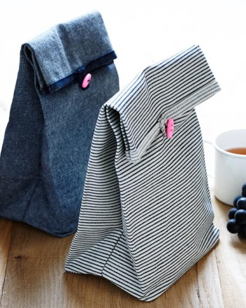 DIY lunch bags! LOVE these!!