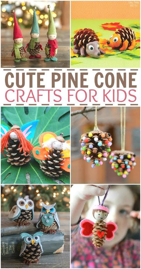 Looking for some fun fall and winter pinecone craft ideas for kids? These cute pine cone crafts are so fun and creative they'll