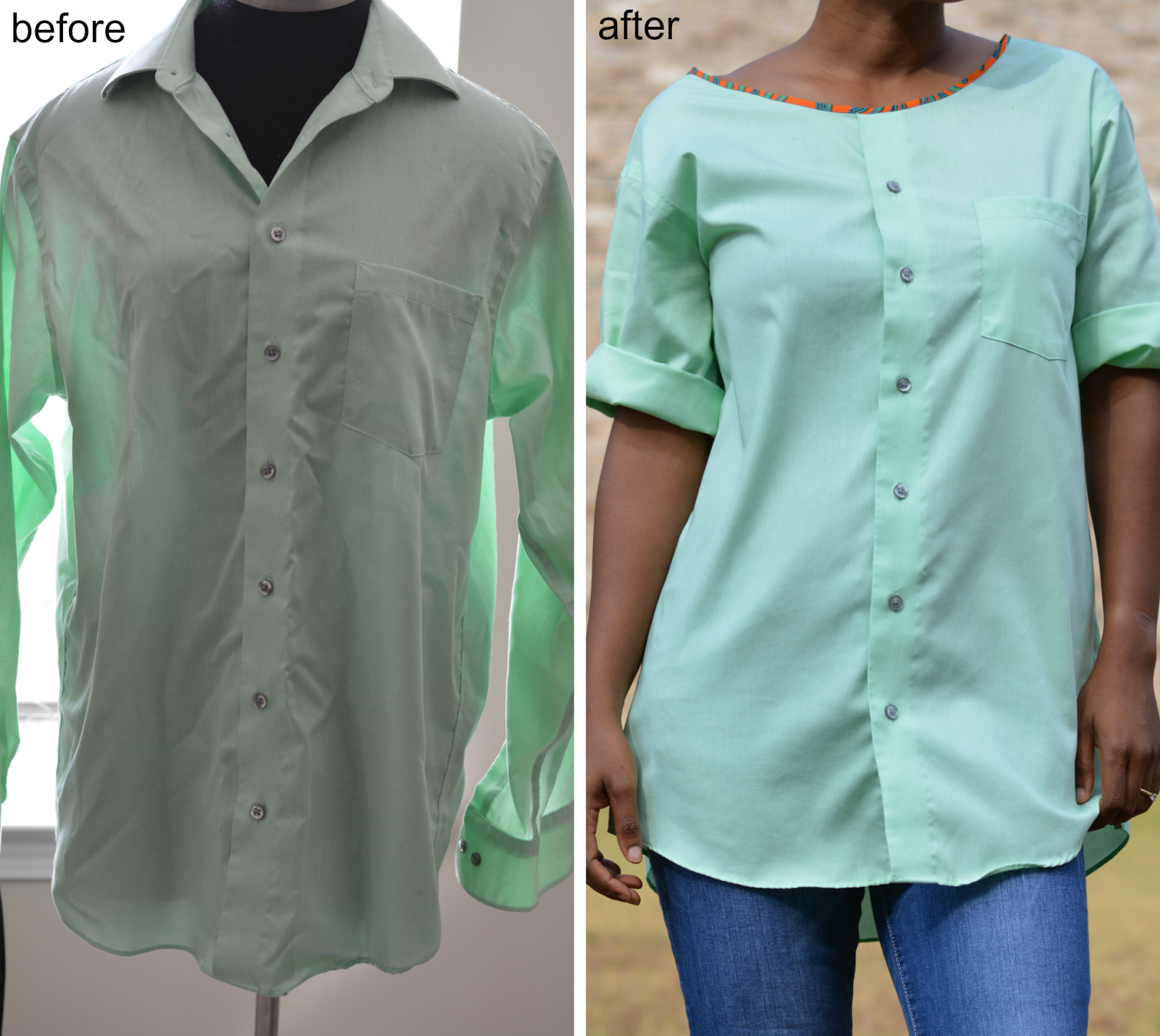 23 diy shirts collar