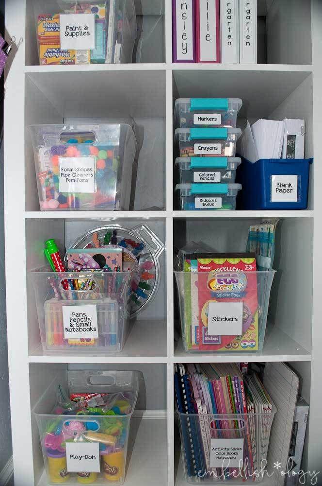 23 kids crafts storage ideas